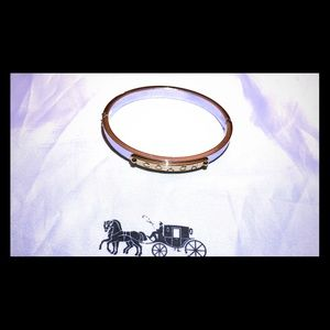 Coach Hinged Bangle